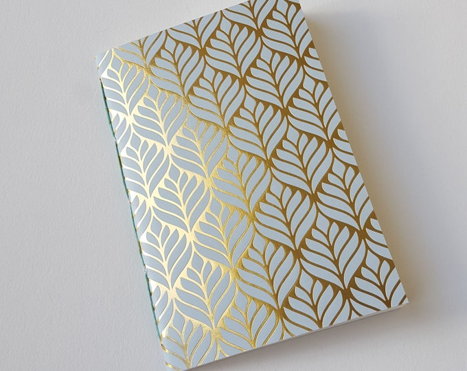 Golden Lotus Goals Journal - #GOALS - Motivation Journal - Exercise Journal - Leaves Design - Lotus Design with Gold Accents - Jotter