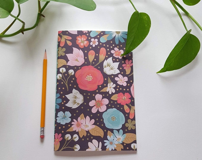 Garden Journal - Colorful Floral Design - Gardening Journal - Planting Diary - Plant Lady Journal - Harvest Tracker