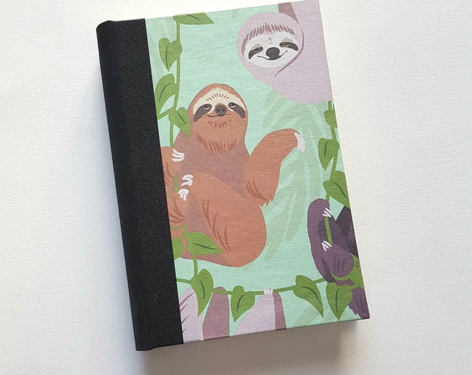 Sloths Journal - Pale Green Cute Sloths Notebook -  Friendly Sloths Journal - Lined Journal - Diary - Travel Journal