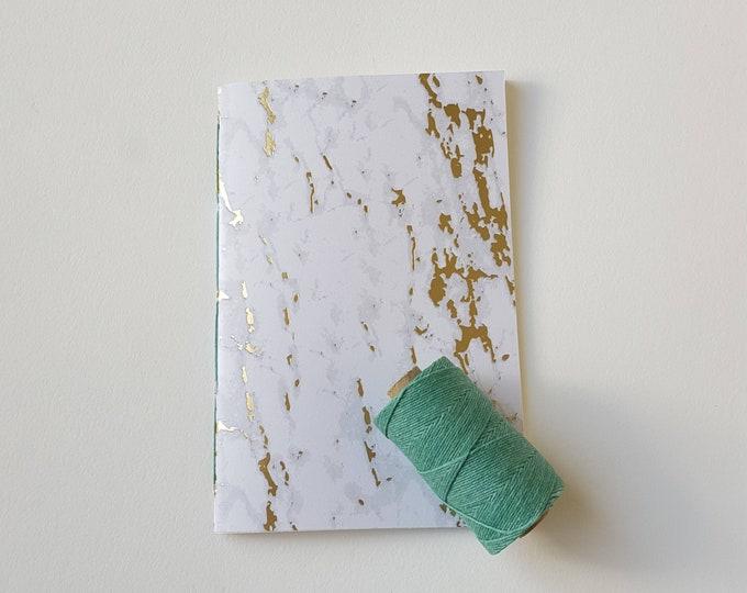 Golden Marble Goals Journal - #GOALS - Motivation Journal - Exercise Journal - Stone Design - Stone Marble Design with Gold Accents - Jotter