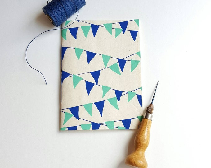 Pennants Notebook - Pennant Banner Journal - Pocket Notebook - Jotter - Triangles - Diary