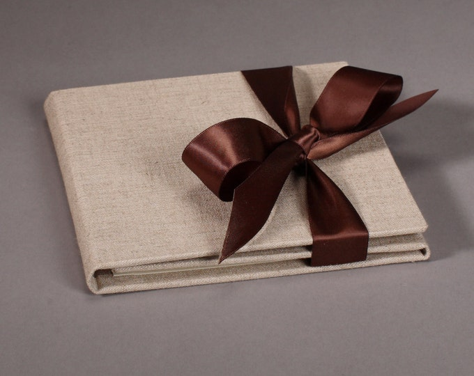 Double Disc - Natural Linen Custom CD / DVD Case - Customization Available