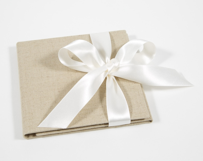 Ready to Ship - Double Disc - Natural Linen CD / DVD Case