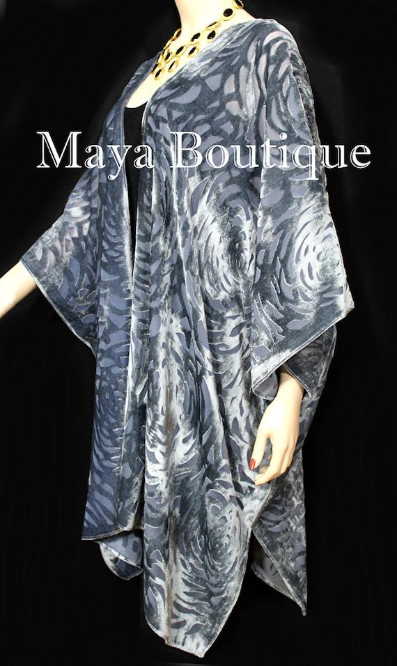 Chocolate Brown Shawl Wrap Scarf Burnout Velvet Art Nouveau Oblong Maya Matazaro