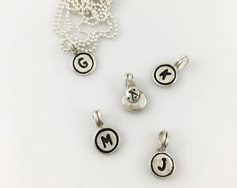 CUSTOM - VINTAGE typewriter key replicas ~ Sterling silver on a sterling chain  CHOICE of letter(s)