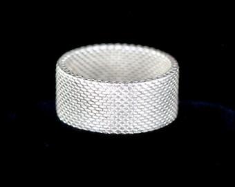 95b685fa4 Vintage Tiffany & Co Sterling Silver Fine Mesh Somerset Band Ring Size 7.5/  Tiffany Co/ Tiffany Co Ring/ Tiffany Co Jewelry/ 925