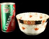 Antique Rare Royal Albert Crown China Round Veggie Bowl Unusual Pattern