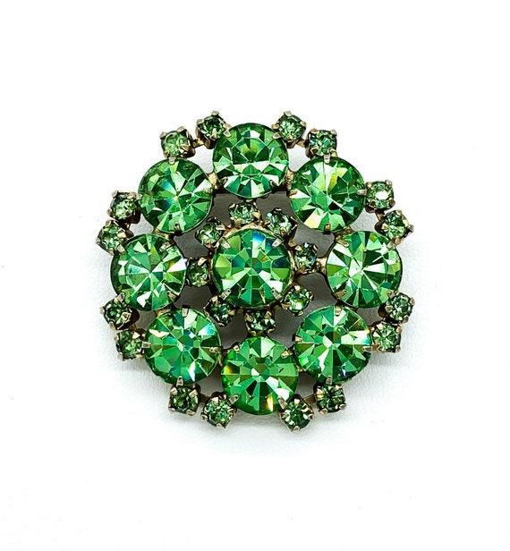 Vintage Juliana Mid Century Peridot Green Paste Rh