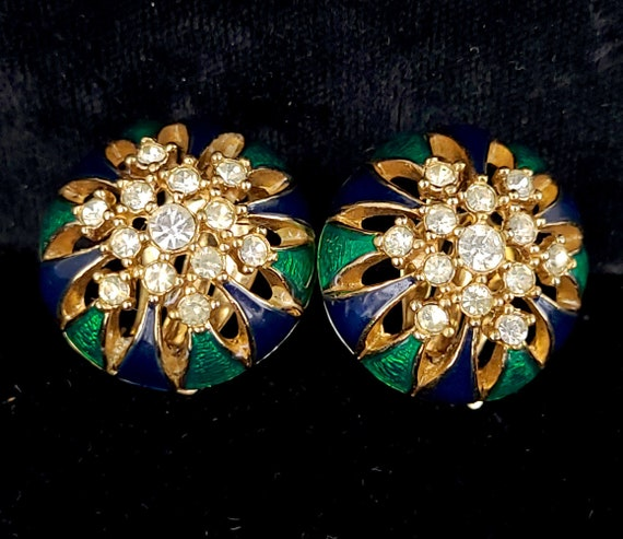 Green Enamel on Goldtone Metal Retro Jewellery 1990/'s Vintage Retro Jewelry Enamel Leaf Brooch