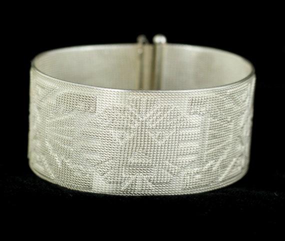 Vintage 7.50 inches Sterling Silver Gemstone Bracelet