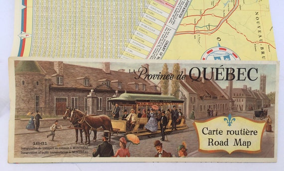 Vintage canadian quebec tourist bureau historical color etsy