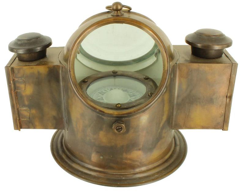 Antiques Atlas - Vintage Binnacle Compass, English, Brass