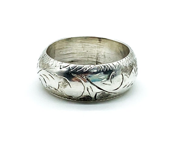 Size T12 Vintage Sterling Silver Band Ring