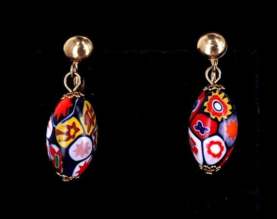 Italian Artisans Gift for Girlfriend Rock Crystal Earrings Golden Silver Jewels Vintage Style. Made in Italy