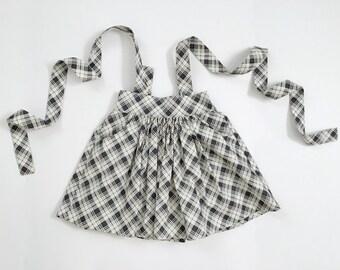 5T Navy Plaid Suspender Skirt - Girls Suspender Skirt