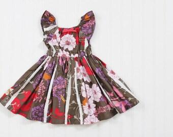 SALE 12-24m Woodland Peasant Dress - Ready to Ship