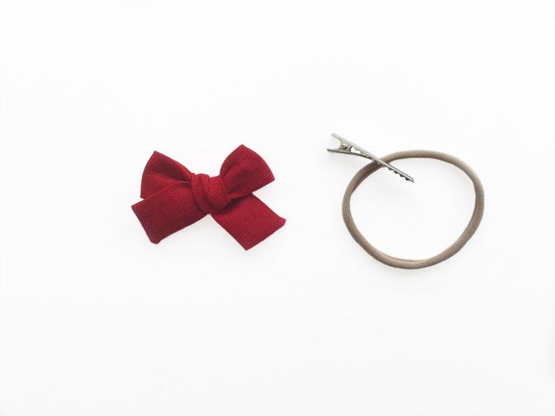 Baby Hair Bow Girls Hair Clip Pigtail Bows Mini Hair Bow Hand Tied Bow Floral Bow