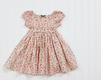 SALE 12-24m and 4T Nostalgia Peasant Dress - Ready to Ship