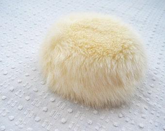 Faux Fox Fur Pillbox Hat