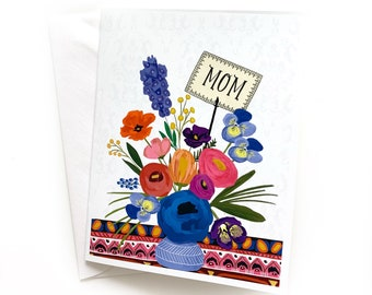 Boho Mom, Mother's Day Greeting Card, Mother's Day, Blank Inside