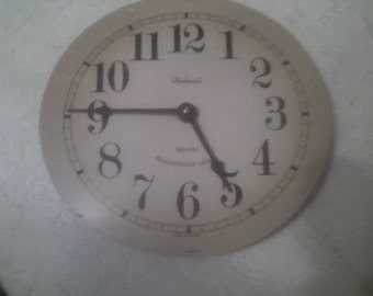 Vintage Clock Face for Home Decor or Craft Art Supply