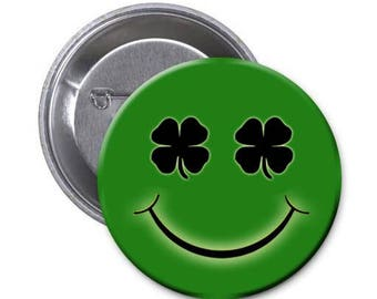St. Patricks Day Pins.  Your choice for 12 pins. 2.25 inces in diameter