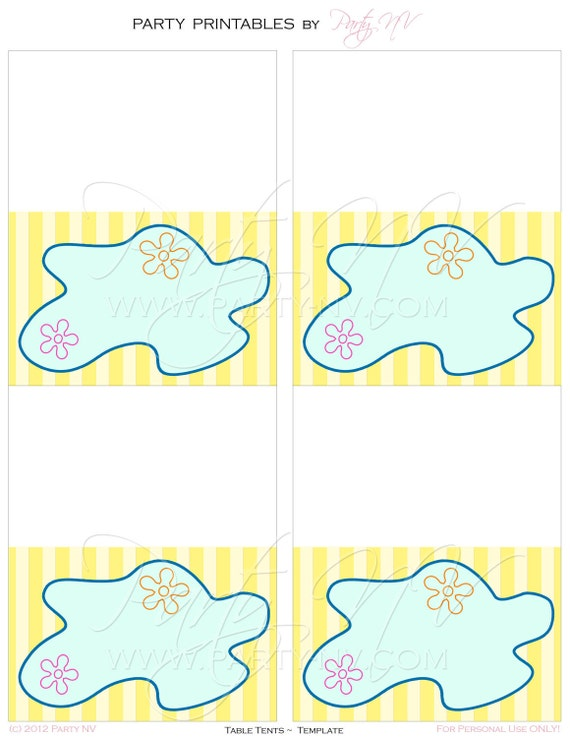 PRINTABLE (BLANK Table Tents) - SpongeBob  Best Day Ever  Collection  sc 1 st  Catch My Party & PRINTABLE (BLANK Table Tents) - SpongeBob