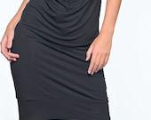 Items similar to black elegant dress to the knee on Etsy