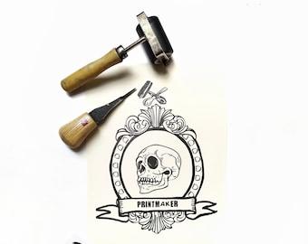 "illustration print ""Until the bone""- gift for printmaker- digital art print- home decoration print-"