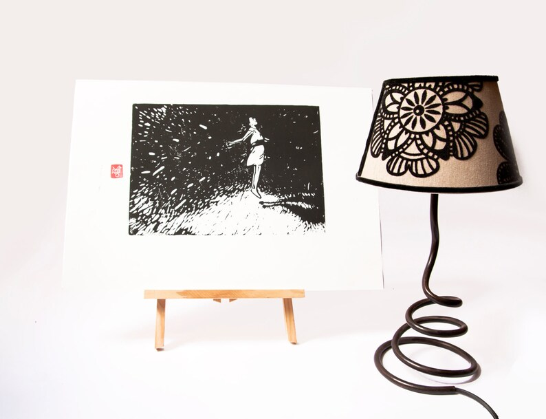 LINOCUT PRINT  artistic print-illustration image 0