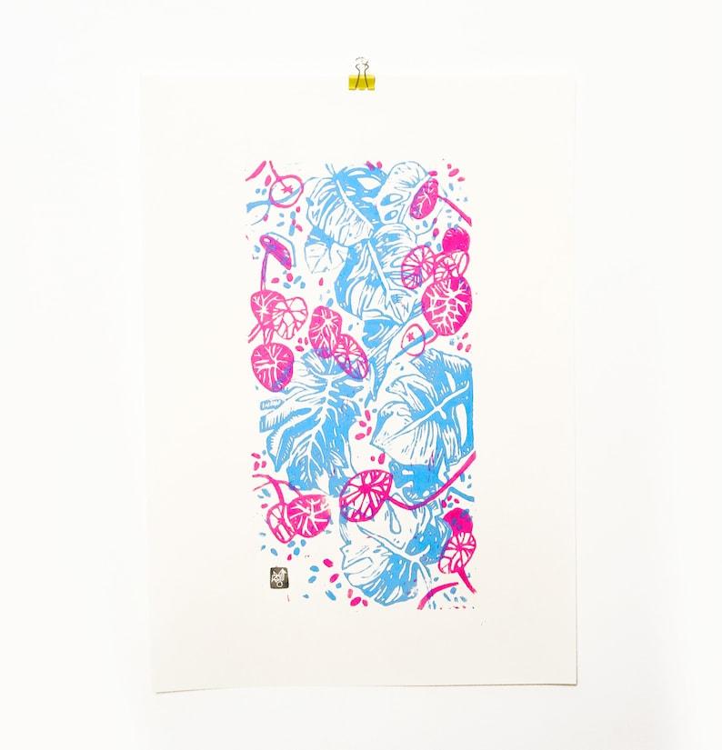 LINOCUT PRINT  artistic print-illustration Vertical image 0