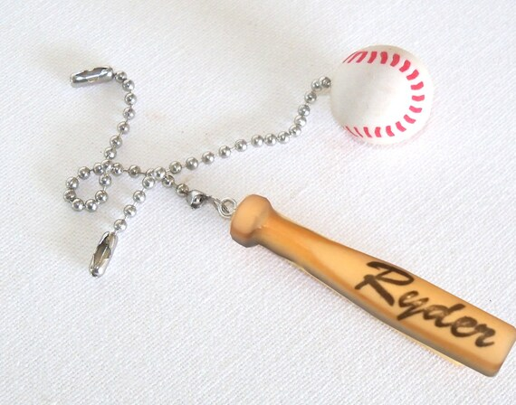 Personalized Baseball And Bat Ceiling Fan Light Pull Set Etsy