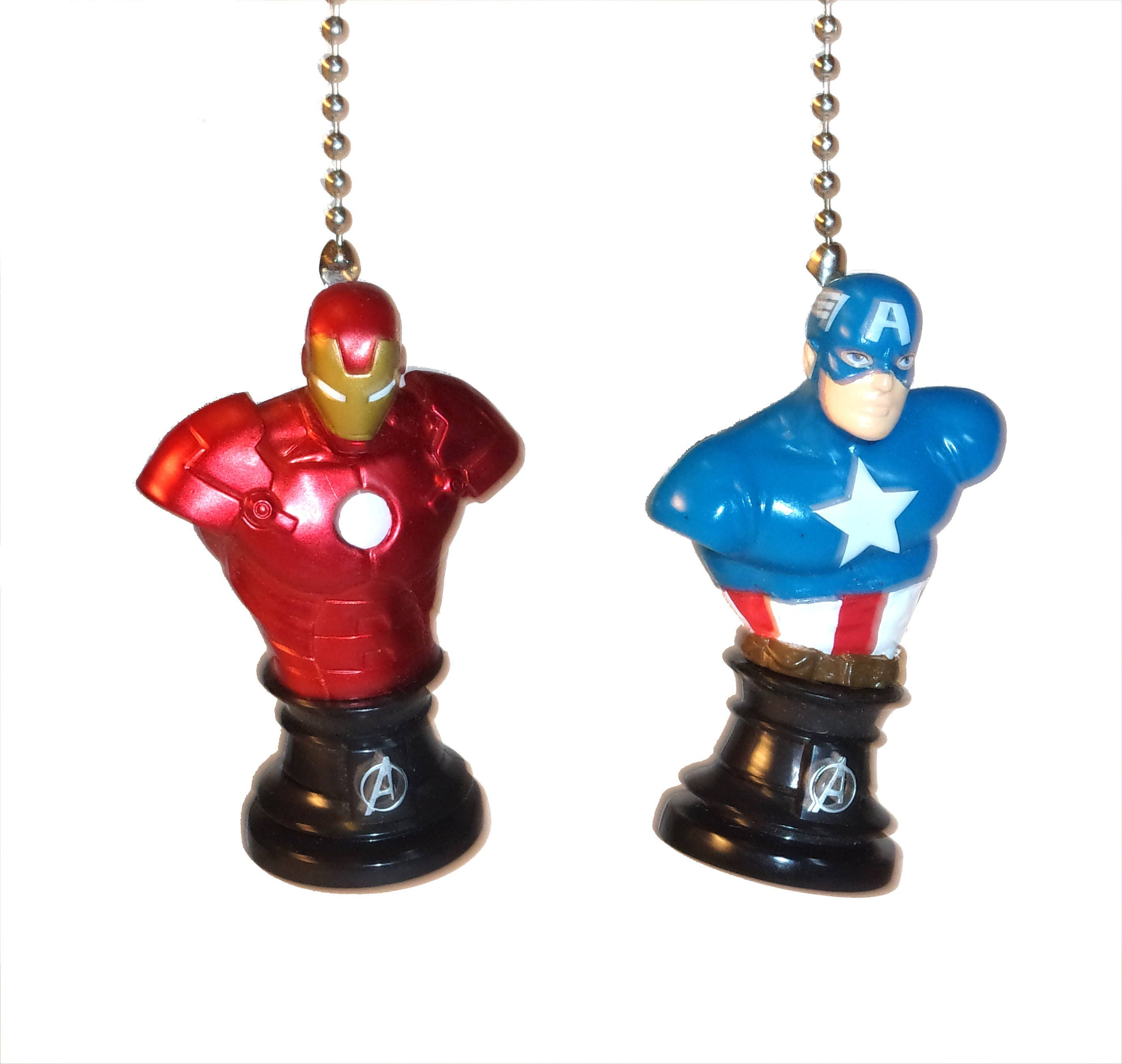 Capt america iron man hulk spiderman ceiling fan light pulls capt america iron man hulk spiderman ceiling fan light pulls avengers civil war kids room decor man cave gift for boys gift for kids aloadofball Gallery