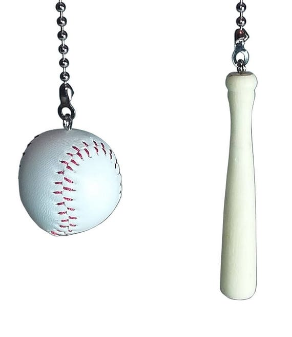 Lighting Accessories Man Cave Decor Baseball And Bat Ceiling Fan Pull Set Kids Room Decor Home Garden