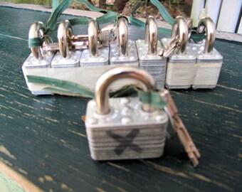 Vintage Master Locks, Padlocks with Original Keys-Lot of 8
