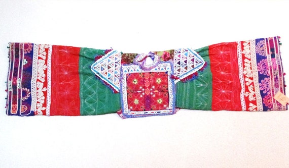 Vintage Ethnic Dress Yoke with Sleeves from Afghan