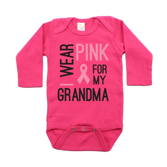 I Wear Pink for My Grandma Unisex Baby Infant Bodysuit