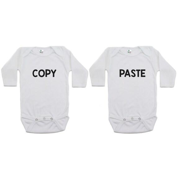 Two Infant Bodysuit Combo Black Twins Funny Siblings 12m I ROLL I Rock