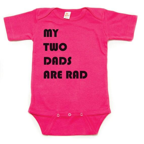 New dad Shower Gift I Love My dads Rainbow Heart Pride Infant Bodysuit New Baby LGBT Two Daddies Unisex Jumper