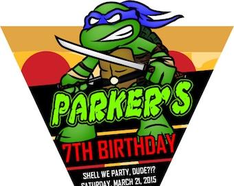 24 Teenage Mutant Ninja Turtles - Leonardo Invitations