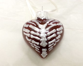Rib Cage Heart Ornament