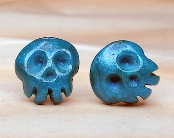Mini Skull Earrings (Hypoallergenic)