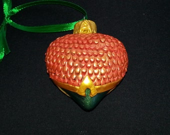 Aquaman Heart Ornament