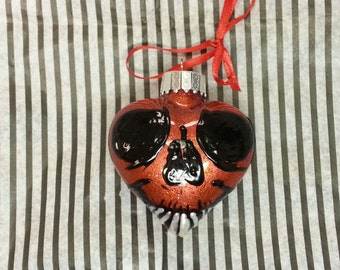 Skully Heart Ornament