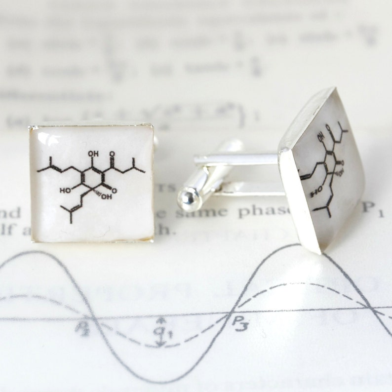 cuff links Cufflinks beer molecule cufflinks Science Cufflinks Molecular Structure Cufflinks Beer Cufflinks gifts for scientists