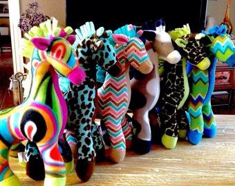 Plush Stuffed Giraffe - you design