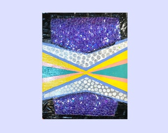"""Sequin Painting ~ 8"""" by 10"""" Canvas by Sam Pletcher"""