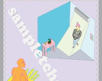 Hold On ~ Digital Artwork by Sam Pletcher ~ Instant Download