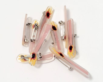 Cute and Unique Match Pin 〰 Shrink Film Matchstick Pin 〰 Handmade Artist Pin