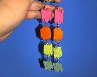 Rainbow Waterfall Earrings
